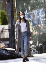 Nastya Swan Steps out for a walk in New York