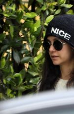 Nina Dobrev Meeting a technician to help with her Tesla not working in LA