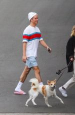Olivia Holt Walks her dog with a friend in Los Angeles