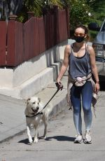 Olivia Wilde Walking her dog in Los Feliz