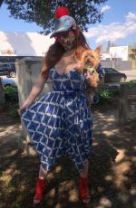 Phoebe Price Shows off a new Custom Mask