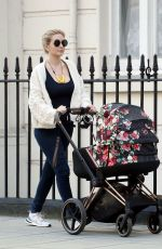 Rachel Riley Pictured out and about with baby daughter Maven Aria in Central London