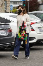 Rainey Qualley Outside Vons Market in Los Angeles