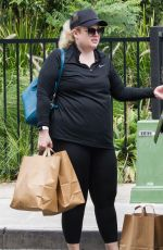 Rebel Wilson Training in a Sydney park with her personal trainer