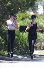 Reese Witherspoon & Ava Phillippe Jogging in Brentwood