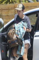 Ruby Rose Arrives at a friend