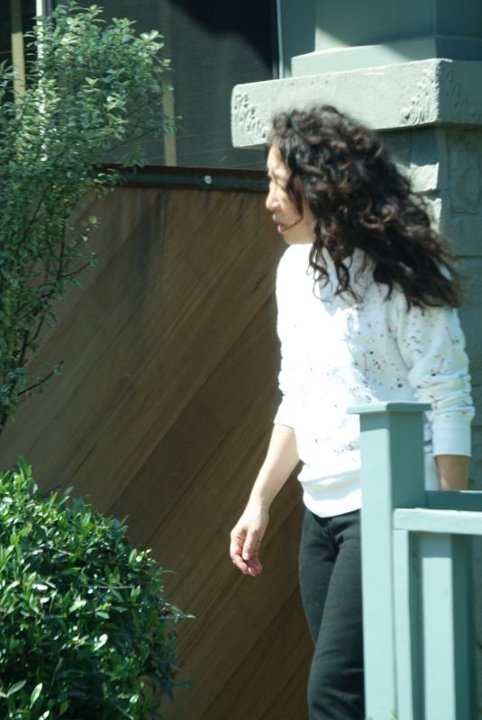 Sandra Oh Spotted at her LA home
