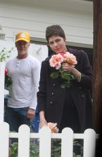 Selma Blair Takes time to Smell the Roses
