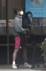 Shia LaBeouf & Mia Goth are both seen leaving Petco with a puppy in Pasadena
