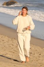Sofia Richie Ditches her motorbike after dropping her phone on the beach in Malibu
