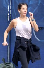 Teri Hatcher Gets in her daily exercise with a walk through downtown Los Angeles