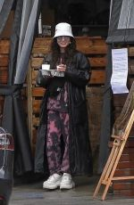 Vanessa Hudgens Picks up Take Out in the Rain