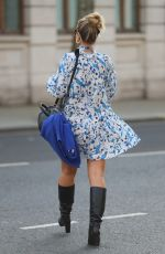 Vogue Williams Leaving Heart Radio breakfast show in summer dress in London