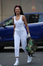 Yasmin Evans Pictured for the first time since Celebrity SAS showing of stunning physique