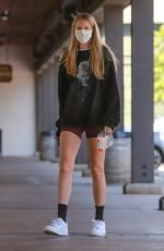 Abby Champion Dons fancy GUCCI mask while on a coffee run