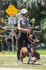 Alessandra Ambrosio Out for a run with her dog in Los Angeles