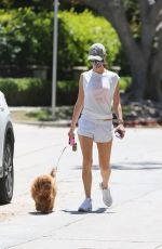 Alessandra Ambrosio Out with Her Dog in Brentwood