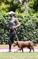 Alessandra Ambrosio Takes her dog for a walk in Santa Monica