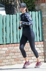Ali Larter Out for run in in Pacific Palisades