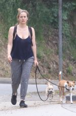 Alicia Silverstone Walking her dogs in Hollywood