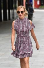 Amanda Holden Out of the Global Radio Studios in London