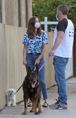 Ana De Armas Out walking the dogs in Los Angeles