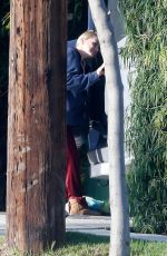 Anna Faris Cleans up her campervan after a recent trip out of LA