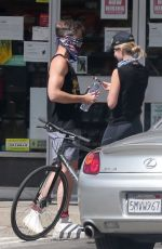 Annabelle Wallis Out for a bike ride with Chris Pine in LA