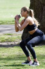Arabella Chi During working out in the park in London