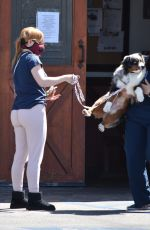 Ariel Winter Takes her dog to a veterinarian clinic in Studio City