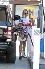 Ashley Benson Getting gas in Los Angeles