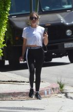 Ashley Benson Out on a hike in Los Angeles