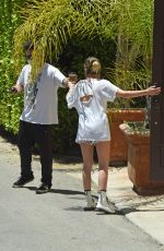 Ashley Benson Outside her house in Los Angeles