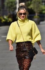 Ashley Roberts Leaving the Global Radio Studios after the Heart Radio Breakfast show in London