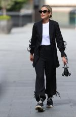 Ashley Roberts Leaving the Global studios after her Heart Radio show in black trouser suit