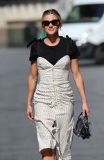 Ashley Roberts Leaving the Global studios after her Heart Radio show in polka dot dress