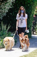 Aubrey Plaza Out with her dogs in Los Feliz