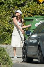 Aubrey Plaza Outside her home in Los Angeles