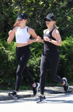 Ava Phillippe and Reese Witherspoon Out Jogging in Brentwood