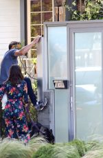 Ben Affleck and Ana de Armas arrive home after walking their dogs