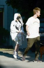 Billie Eilish and Finneas are Spotted Out on a Dog Walk in Los Angeles