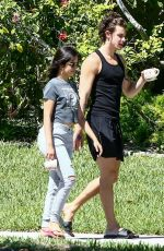 Camila Cabello Out for a walk in Coral Gables
