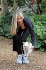 Caprice Bourret Out with Her Dog in London