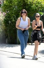 Charli XCX Walking with a friend in Los Angeles