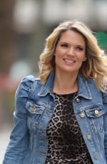 Charlotte Hawkins Stuns in animal print dress while arriving Classic FM in London