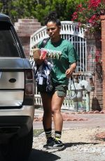 Christina Milian Outside her home in Beverly Hills