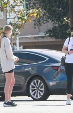 Christina Schwarzenegger Runs into Abby Champion in Brentwood