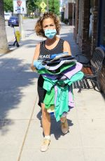 Claudia Wells Seen outside her shop in Studio City