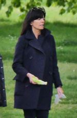 Claudia Winkleman Visiting a park in London