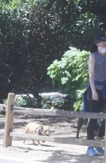 Courtney Thorne-Smith Takes her pups out for a walk in Palisades